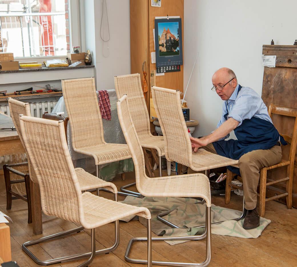 Stuhl Geflochtene Sitzflache Reparieren Stuhlflechterei Fur